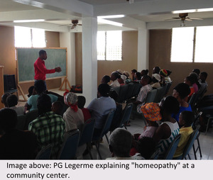 PG explaning homeopathy to community 3